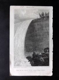 Barralet & Wilson 1810 Print. View of the Great Pitch. Niagara Falls, USA Canada